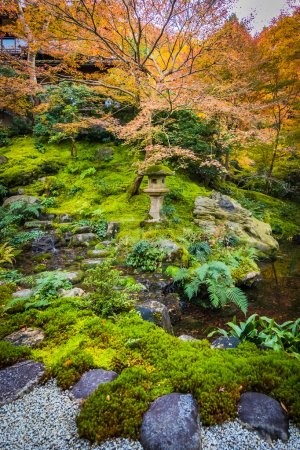 Photo for Japanese garden in autumn season - Royalty Free Image