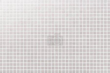 Photo pour Motif de carrelage en mosaïque blanche et fond sans soudure - image libre de droit