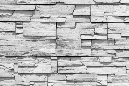White stone wall background and pattern