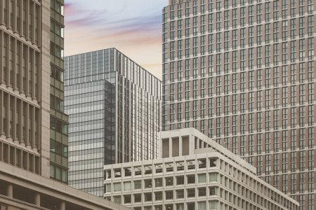 High rise office buildings at city business area