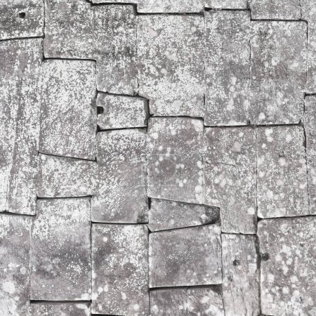 Old stone block wall seamless background