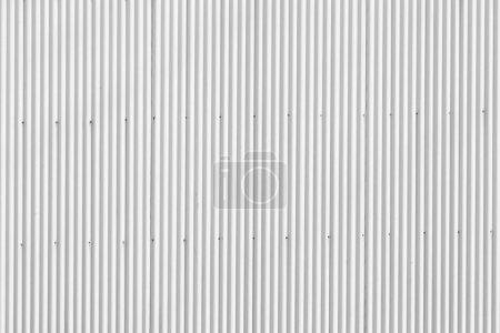 White zinc wall background