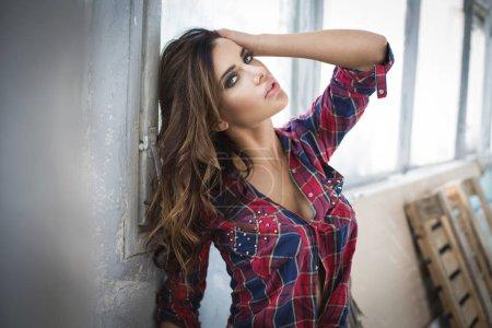 Beautiful woman in shirt