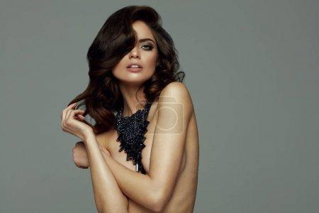 Beautiful female model with jewellery