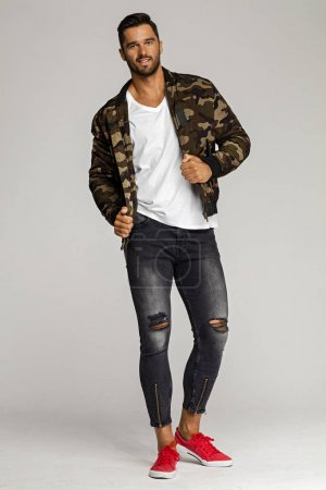 male model wearing jacket