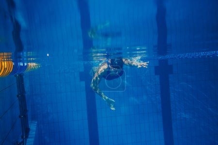 Swimmer woman underwater