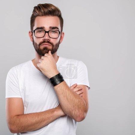 Stylish man in eyeglasses