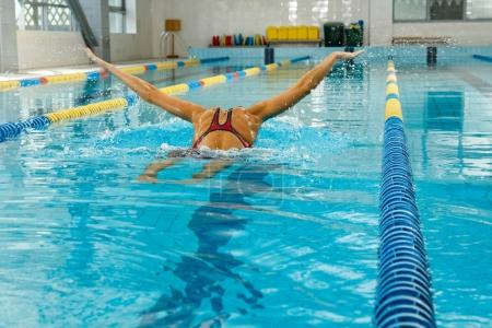 Photo for Female Professional swimmer in the pool - Royalty Free Image