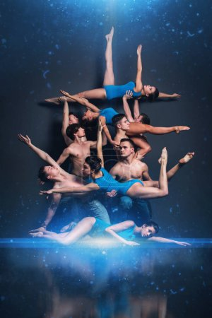 Young dancers in stunning pose