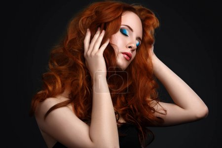 Photo for Portrait of woman with beautiful red hair - Royalty Free Image