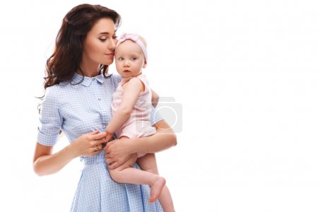 Mother with  beautiful little daughter