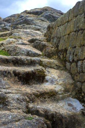 Old stone steps at Ingapirca