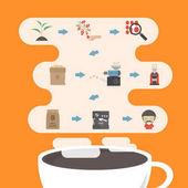 coffee process infographic