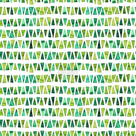 Seamless pattern with green triangles.