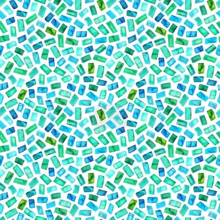 Seamless pattern with green rectangles.