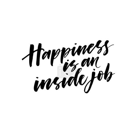 Happiness is an inside job postcard.
