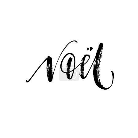 Hand lettering Noel card.
