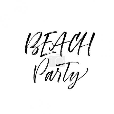 Beach party card.