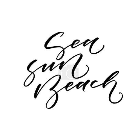 Sea, sun, beach card.