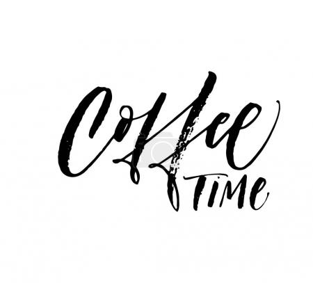 Coffee time phrase.