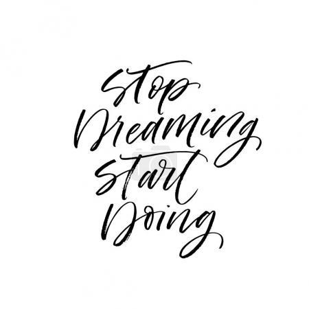 Stop dreaming start doing postcard.