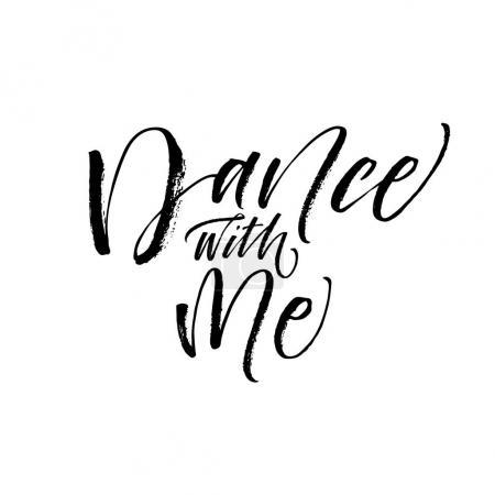 Dance with me postcard.