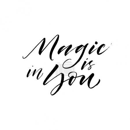Magic is in you postcard.