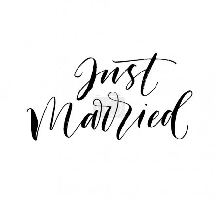 Just married postcard.