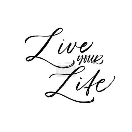 Live your life postcard.