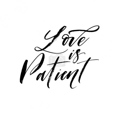 Love is patient postcard.