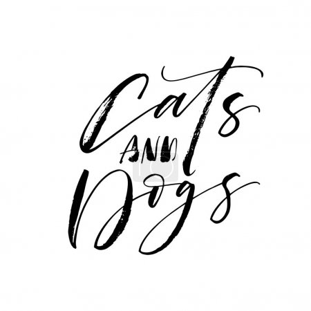 Cats and dogs card.