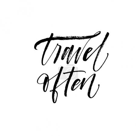 Travel often card.