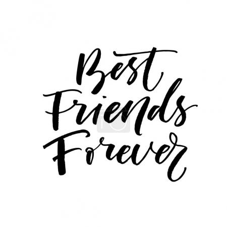 Best friends forever postcard.