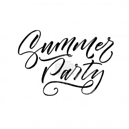 Summer party postcard.