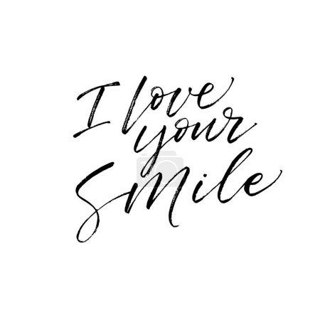 Illustration for Vector illustration design of I love your smile card. - Royalty Free Image