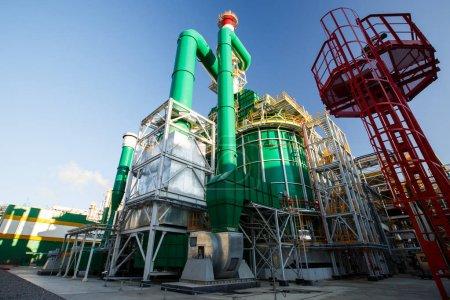 Photo pour La production jaune vert blanc bâtiment Territoire de la plante - image libre de droit
