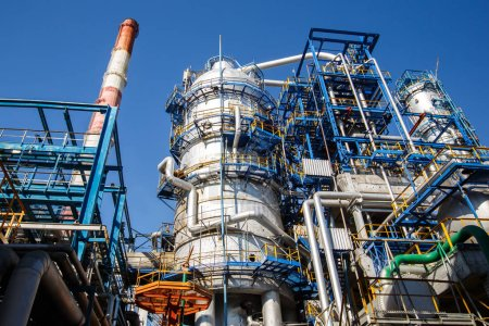 Photo for Smoke from the factory pipes. Ecological problem concept - Royalty Free Image