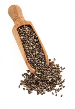chia seeds with little spoon