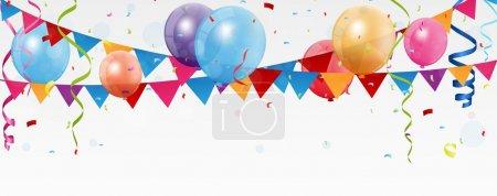 Illustration pour Anniversaire fête fond festif. illustration vectorielle - image libre de droit