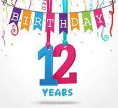 happy 12 birthday card