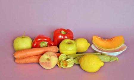 Fruit, fresh vegetables, close-up