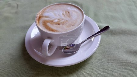 Photo for Top view of tasty coffee on table - Royalty Free Image