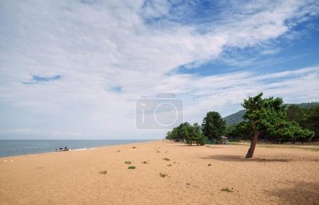 The eastern coast of Lake