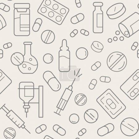 Foto de Plantilla médica perfecta, simplemente ilustración vectorial - Imagen libre de derechos