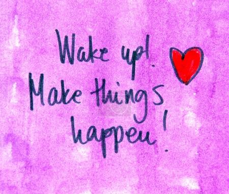 make things happen message