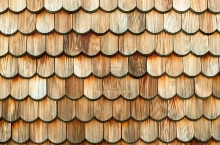 wooden roof tiles