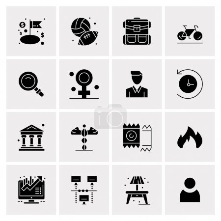 16 Universal Business Icons Vector. Creative Icon ...