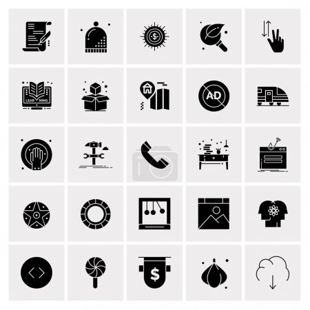25 Universal Business Icons Vector. Creative Icon ...