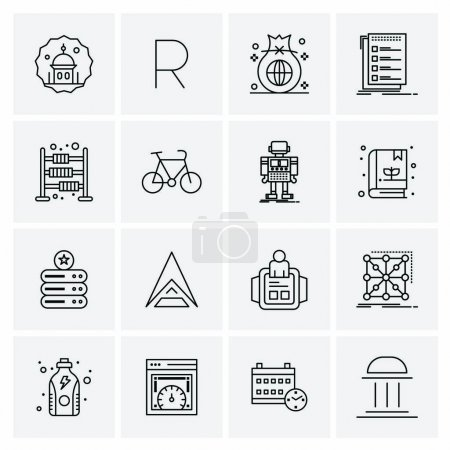 16 Business Universal Icons Vector. Creative Icon Illustration to use in web and Mobile Related project.
