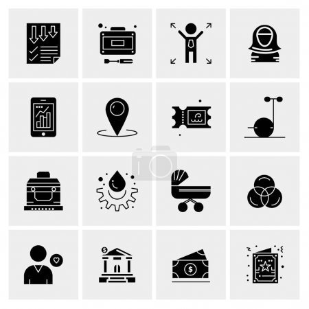 Photo pour 16 Business Universal Icons Vector. Creative Icon Illustration to use in web and Mobile Related project. - image libre de droit
